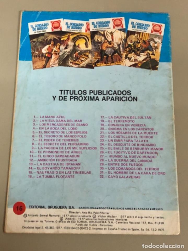 Tebeos: Joyas literarias Juveniles serie roja N 16, El corsario de hierro-La tumba flotante - Foto 2 - 233110620