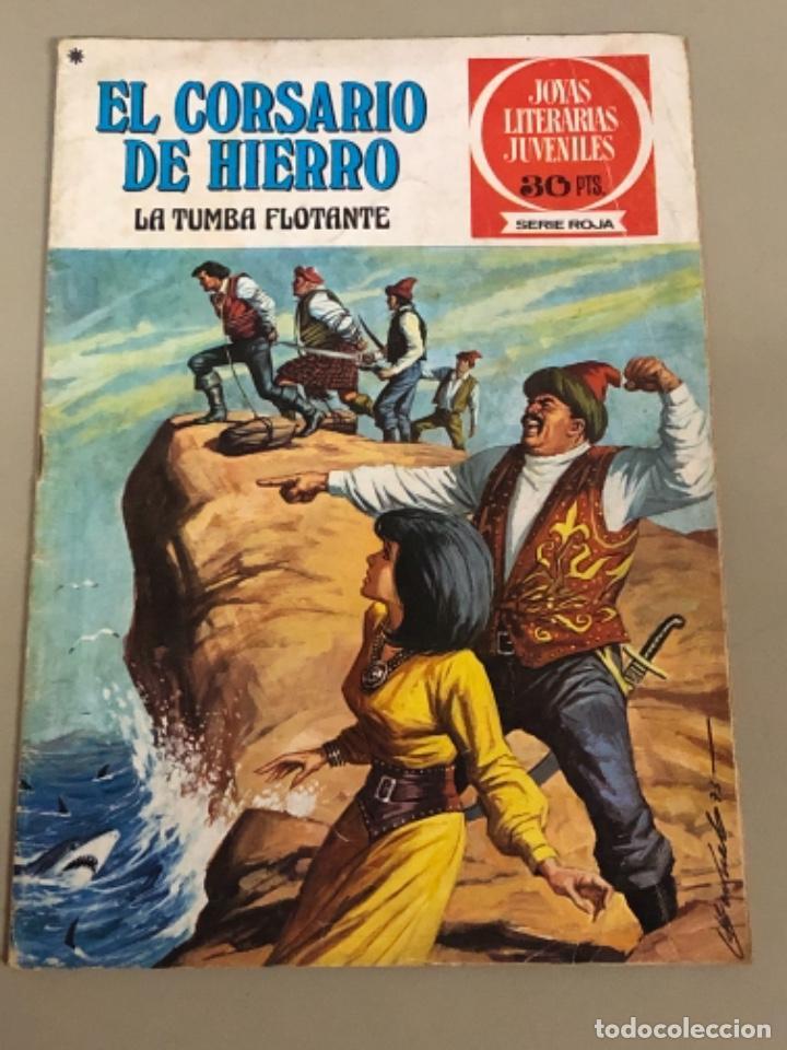 JOYAS LITERARIAS JUVENILES SERIE ROJA N 16, EL CORSARIO DE HIERRO-LA TUMBA FLOTANTE (Tebeos y Comics - Bruguera - Corsario de Hierro)