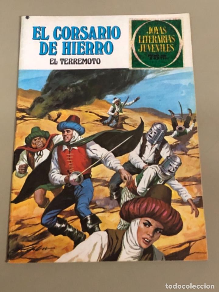 JOYAS LITERARIAS JUVENILES SERIE ROJA N 18, EL CORSARIO DE HIERRO-EL TERREMOTO (Tebeos y Comics - Bruguera - Corsario de Hierro)