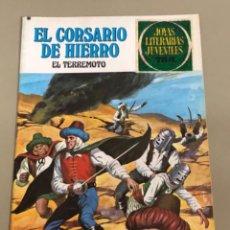 Tebeos: JOYAS LITERARIAS JUVENILES SERIE ROJA N 18, EL CORSARIO DE HIERRO-EL TERREMOTO. Lote 233110765