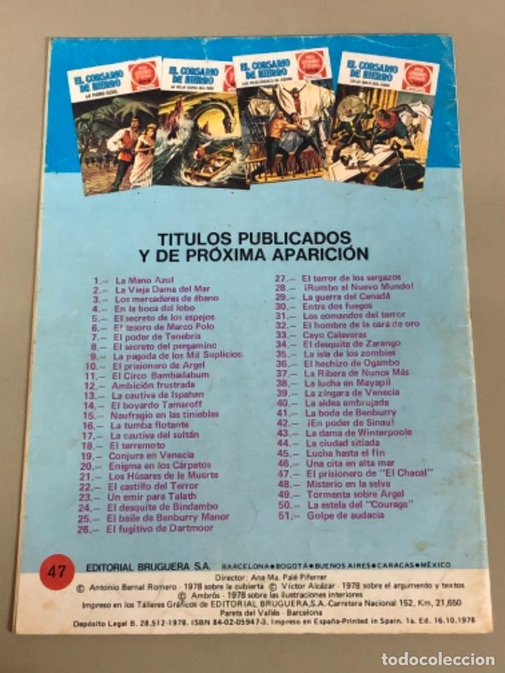 """Tebeos: Joyas literarias Juveniles serie roja N 47, El corsario de hierro-El prisionero de """"el Chacal"""" - Foto 2 - 233111330"""