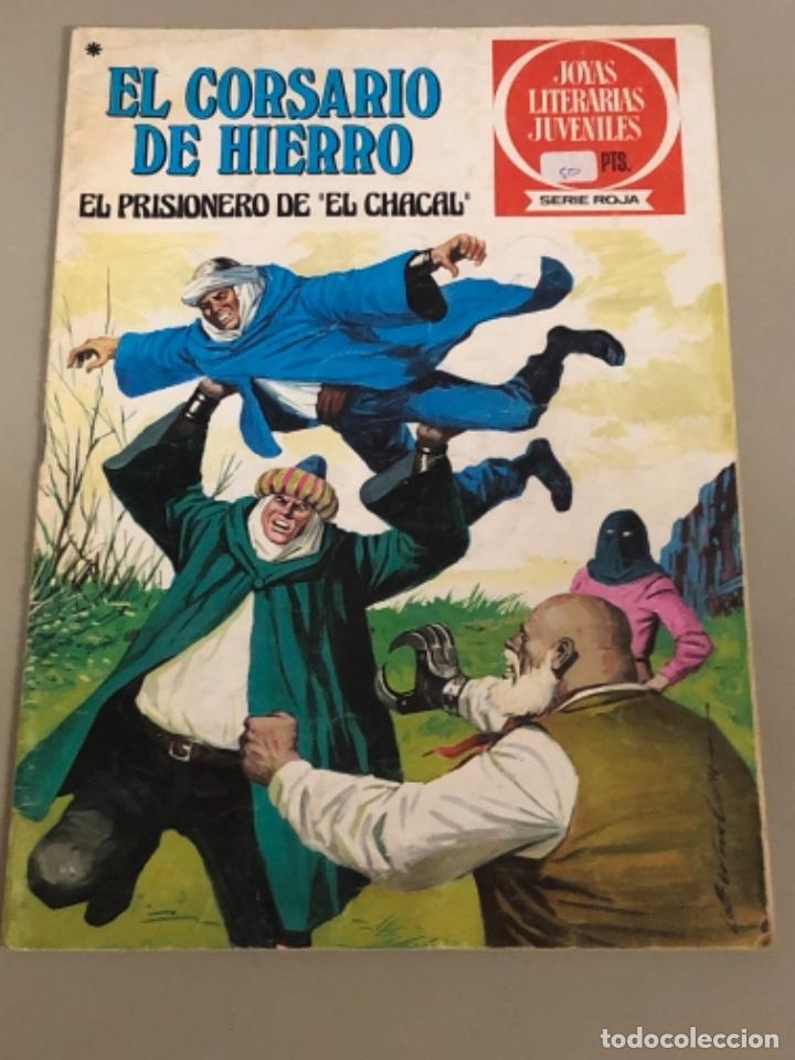 """JOYAS LITERARIAS JUVENILES SERIE ROJA N 47, EL CORSARIO DE HIERRO-EL PRISIONERO DE """"EL CHACAL"""" (Tebeos y Comics - Bruguera - Corsario de Hierro)"""