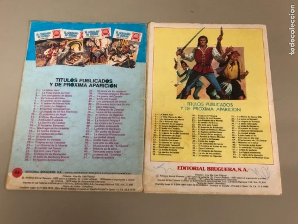 Tebeos: Lote de dos números de Joyas literarias Juveniles serie roja , El corsario de hierro - Foto 2 - 233199830