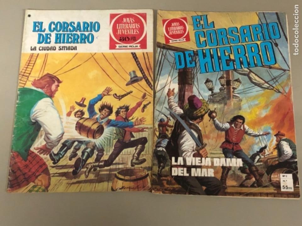 LOTE DE DOS NÚMEROS DE JOYAS LITERARIAS JUVENILES SERIE ROJA , EL CORSARIO DE HIERRO (Tebeos y Comics - Bruguera - Corsario de Hierro)