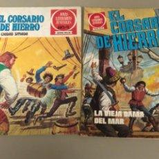 Tebeos: LOTE DE DOS NÚMEROS DE JOYAS LITERARIAS JUVENILES SERIE ROJA , EL CORSARIO DE HIERRO. Lote 233199830