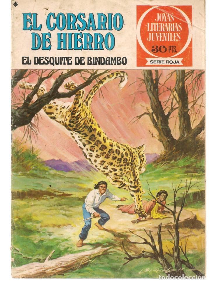 JOYAS LITERARIAS JUVENILES. SERIE ROJA. Nº 24. EL CORSARIO DE HIERRO. (BRUGUERA)C/A15. (Tebeos y Comics - Bruguera - Corsario de Hierro)