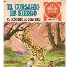 Tebeos: JOYAS LITERARIAS JUVENILES. SERIE ROJA. Nº 24. EL CORSARIO DE HIERRO. (BRUGUERA)C/A15.. Lote 233255050