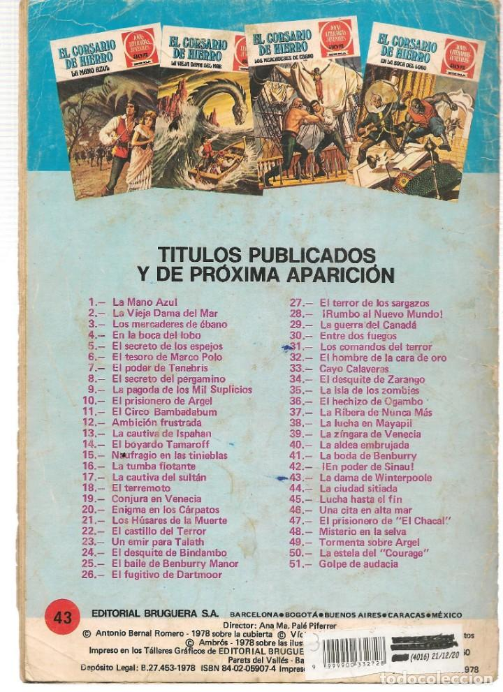 Tebeos: JOYAS LITERARIAS JUVENILES. SERIE ROJA. Nº 43. EL CORSARIO DE HIERRO. (BRUGUERA)C/A15. - Foto 2 - 233256830