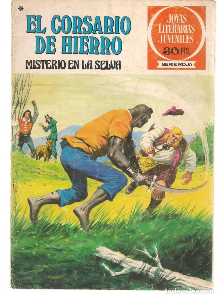 JOYAS LITERARIAS JUVENILES. SERIE ROJA. Nº 48. EL CORSARIO DE HIERRO. (BRUGUERA)C/A15. (Tebeos y Comics - Bruguera - Corsario de Hierro)