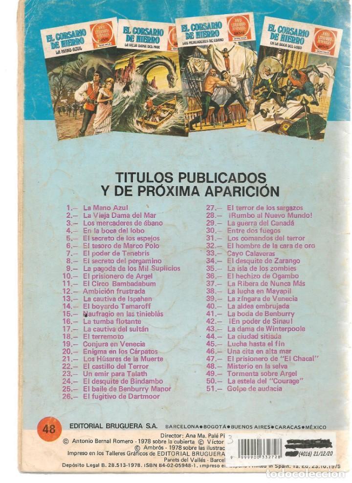 Tebeos: JOYAS LITERARIAS JUVENILES. SERIE ROJA. Nº 48. EL CORSARIO DE HIERRO. (BRUGUERA)C/A15. - Foto 2 - 233258130