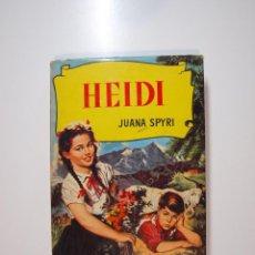 Tebeos: HEIDI - JUANA SPYRI - COLECCIÓN HISTORIAS Nº 39 - BRUGUERA 2ª ED. 1958 - BE. Lote 233922175