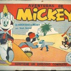 Tebeos: NUMULITE L0595 AVENTURAS DE MICKEY LA HEROICIDAD DE MICKEY POR WALT DISNEY EDITORIAL BRUGUERA Nº 15. Lote 233951630
