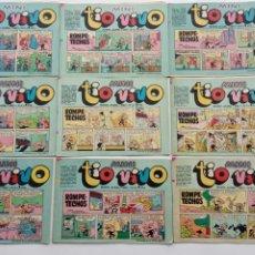Tebeos: MINI TIO VIVO - NºS - 1,3,4,5,6,7,11,13,21 - EDI. BRUGUERA 1975. Lote 234411290