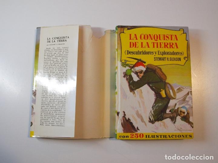Tebeos: LA CONQUISTA DE LA TIERRA - STEWART H. GLEASON - COLECCIÓN HISTORIAS Nº 59 - BRUGUERA 2ª ED. 1960 - Foto 2 - 235347020