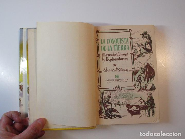 Tebeos: LA CONQUISTA DE LA TIERRA - STEWART H. GLEASON - COLECCIÓN HISTORIAS Nº 59 - BRUGUERA 2ª ED. 1960 - Foto 4 - 235347020