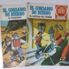 Tebeos: 2 CÓMICS EL CORSARIO DE HIERRO .N 18 Y 22.AÑO 1977. Lote 235387640