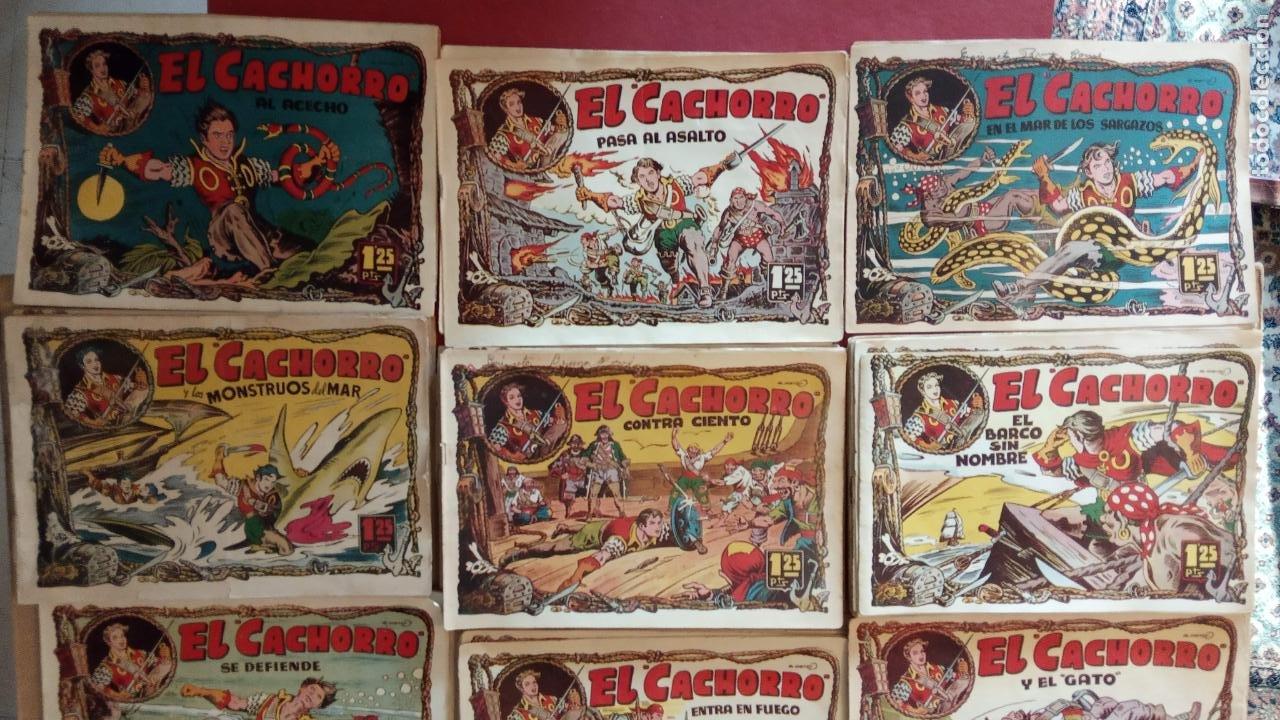 Tebeos: EL CACHORRO ORIGINALES 1951 BRUGUERA - 97 TEBEOS, VER TODAS LAS IMÁGENES DE PORTADAS Y CONTRAS - Foto 7 - 235576300