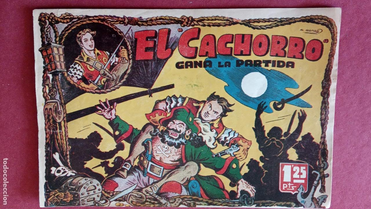 Tebeos: EL CACHORRO ORIGINALES 1951 BRUGUERA - 97 TEBEOS, VER TODAS LAS IMÁGENES DE PORTADAS Y CONTRAS - Foto 13 - 235576300