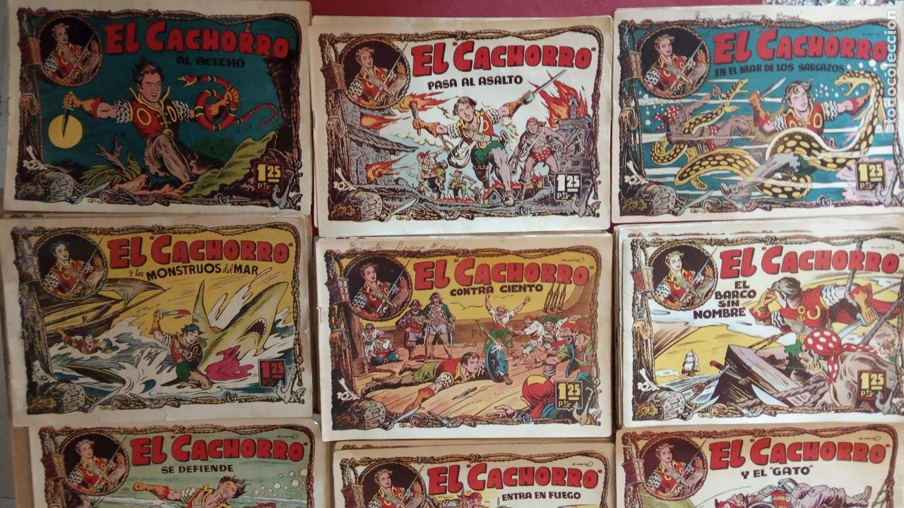 Tebeos: EL CACHORRO ORIGINALES 1951 BRUGUERA - 97 TEBEOS, VER TODAS LAS IMÁGENES DE PORTADAS Y CONTRAS - Foto 23 - 235576300