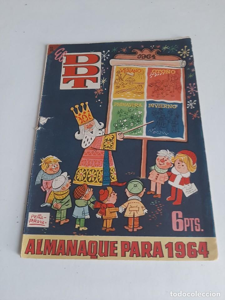 DDT,ALMANAQUE PARA NAVIDAD 1964.ORIGINAL DE EPOCA. (Tebeos y Comics - Bruguera - DDT)