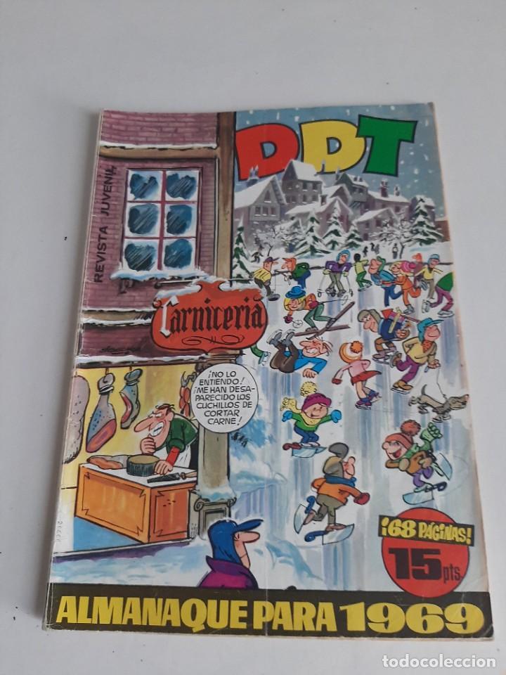 DDT,ALMANAQUE PARA 1969.ORIGINAL DE EPOCA. (Tebeos y Comics - Bruguera - DDT)