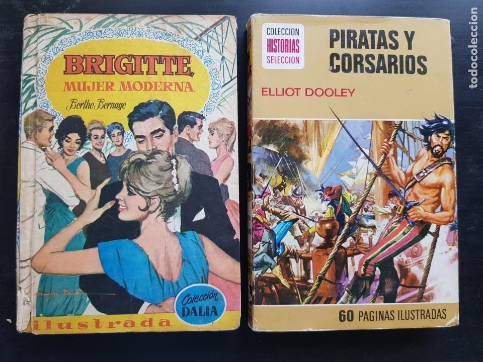 LOTE 2 TEBEOS / CÓMIC COLECCIÓN HISTORIAS SELECCIÓN N⁰ 22 BRUGUERA BRIGITTE 1961 1 EDICIÓN (Tebeos y Comics - Bruguera - Historias Selección)