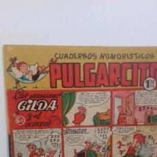Tebeos: CUADERNOS HUMORISTICOS PULGARCITO N.162 JULIO 1950. Lote 236544390