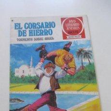 Tebeos: EL CORSARIO DE HIERRO Nº 49 JOYAS LITERARIAS JUVENILES. BRUGUERA SERIE ROJA C12X3. Lote 236942915