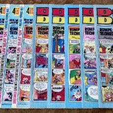 Livros de Banda Desenhada: DIN DAN Nº 24, 86, 100, 116, 117, 122, 126, 132, 133, 134 Y 141 (BRUGUERA 1970) 11 TEBEOS.. Lote 233375525