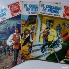 Tebeos: 3 CÓMICS EL CORSARIO DE HIERRO .NUMERO 1, 18 Y 22.AÑO 1977.. Lote 235387640