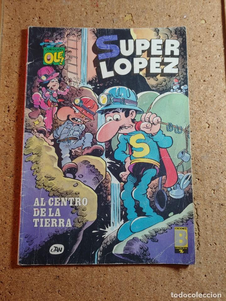 COMIC DE OLE SUPER LOPEZ EN AL CENTRO DE LA TIERRA DEL AÑO 1987 Nº 10 - SL (Tebeos y Comics - Bruguera - Ole)