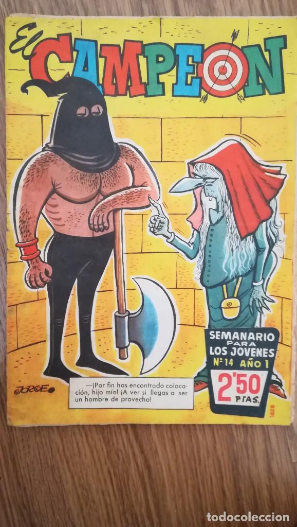 EL CAMPEÓN. SEMANARIO PARA JÓVENES, Nº 14 (Tebeos y Comics - Bruguera - DDT)