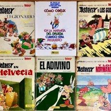 Tebeos: LOTE 6 TEBEOS COMICS ASTERIX Y OBELIX - LIBROS PILOTE MARMITA DEL DRUIDA EL ADIVINO LEGIONARIO GODOS. Lote 237964475