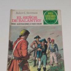 Tebeos: JOYAS LITERARIAS JUVENILES - ROBERT L.STEVENSON - EL SEÑOR DE BALANTRY - Nº 20 - 1974. Lote 238107105