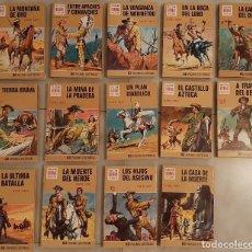 Tebeos: COLECCION COMPLETA 14 TOMOS LIBRO SERIE KARL MAY HISTORIAS SELECCION OESTE BRUGUERA 1973 COMIC. Lote 238124000
