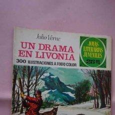 Tebeos: JOYAS LITERARIAS JUVENILES NUMERO 161 UN DRAMA EN LIVONIA. Lote 238169515