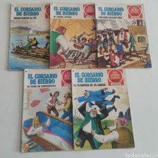 Tebeos: LOTE 5 JOYAS LITERARIAS JUVENILES EL CORSARIO DE HIERRO 43, 44, 45, 46, 47. Lote 238181635