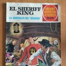Tebeos: EL SHERIFF KING. LA AMENAZA DEL DRAGÓN. GRANDES AVENTURAS JUVENILES. EDITORIAL BRUGUERA.. Lote 238267430