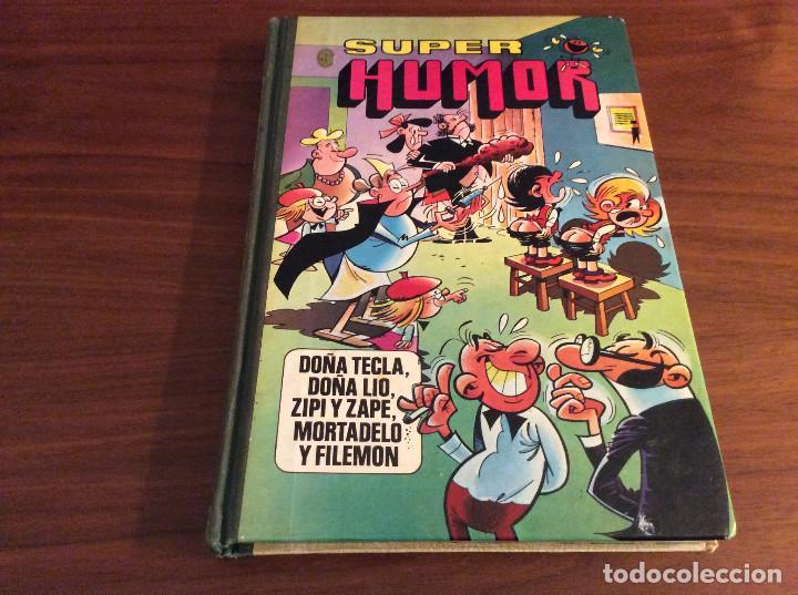 LIBRO SUPER HUMOR VOLUMEN XVIII 18 (1982) MORTADELO, DOÑA TECLA, DOÑA LIO, ZIPI ZAPE, (Tebeos y Comics - Bruguera - Super Humor)