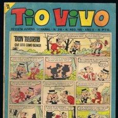 Tebeos: TIO VIVO Nº 318 AÑO X 10 DE ABRIL 1967. Lote 239391265