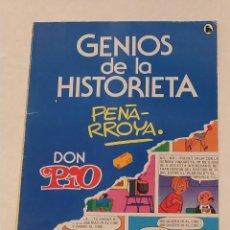 Tebeos: GENIOS DE LA HISTORIETA Nº 2 - PEÑARROYA- DON PIO- BRUGUERA - AÑO 1985. Lote 239895190
