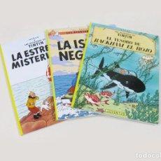 Tebeos: LOTE DE 3 COMICS DE TINTÍN - TESORO DE RACKHMAN EL ROJO. LA ISLA NEGRA. LA ISLA MISTERIOSA.. Lote 239895205