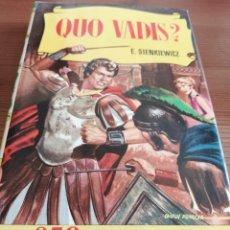 Tebeos: E. SIENKIEWICZ - QUO VADIS? (1958). BRUGUERA. COLECCIÓN HISTORIAS.. Lote 240004705