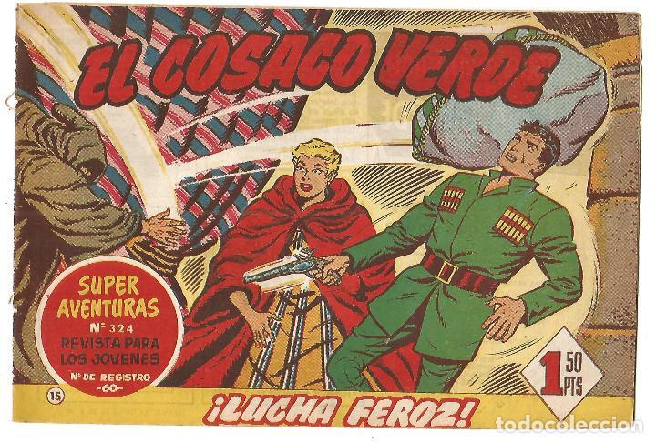 EL COSACO VERDE Nº 15 TEBEO ORIGINAL EDITORIAL BRUGUERA ED 1960 (Tebeos y Comics - Bruguera - Cosaco Verde)