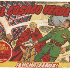Tebeos: EL COSACO VERDE Nº 15 TEBEO ORIGINAL EDITORIAL BRUGUERA ED 1960. Lote 240162460