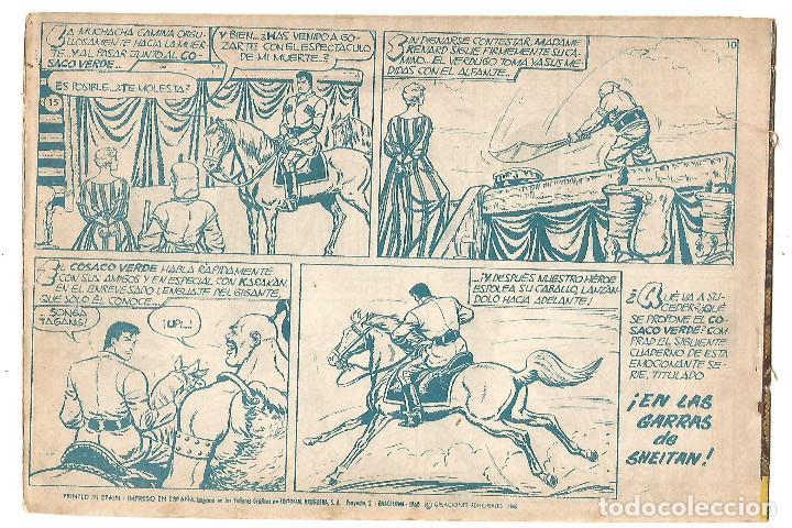 Tebeos: EL COSACO VERDE Nº 15 TEBEO ORIGINAL EDITORIAL BRUGUERA Ed 1960 - Foto 2 - 240162460