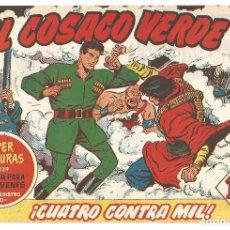 Tebeos: EL COSACO VERDE Nº 20 TEBEO ORIGINAL EDITORIAL BRUGUERA ED 1960. Lote 240166335