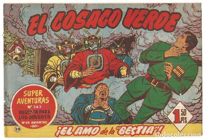 EL COSACO VERDE Nº 28 TEBEO ORIGINAL EDITORIAL BRUGUERA ED 1960 (Tebeos y Comics - Bruguera - Cosaco Verde)
