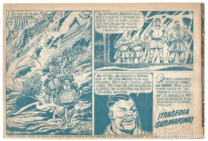 Tebeos: EL COSACO VERDE Nº 28 TEBEO ORIGINAL EDITORIAL BRUGUERA Ed 1960 - Foto 2 - 240286595