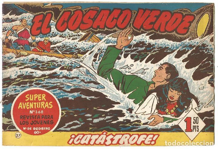 EL COSACO VERDE Nº 27 TEBEO ORIGINAL EDITORIAL BRUGUERA ED 1960 (Tebeos y Comics - Bruguera - Cosaco Verde)